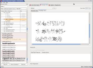 Pantalla de FontMatrix mostrando fuente Pokemon!